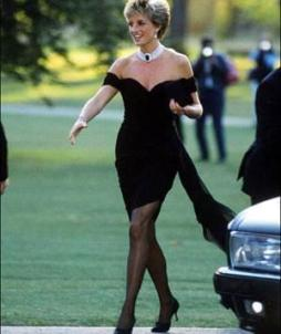 PRINCESS DIANA in LBD outside court room