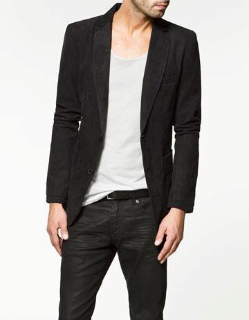 Faux seuede blazer by Zara