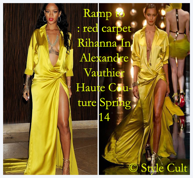 Ramp to redcarpet Rihanna