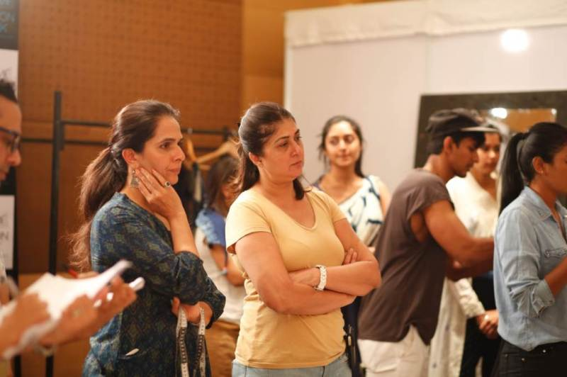Anita Dongre and Lubna Adams @ LFW SR 2014 Day 1 fittings