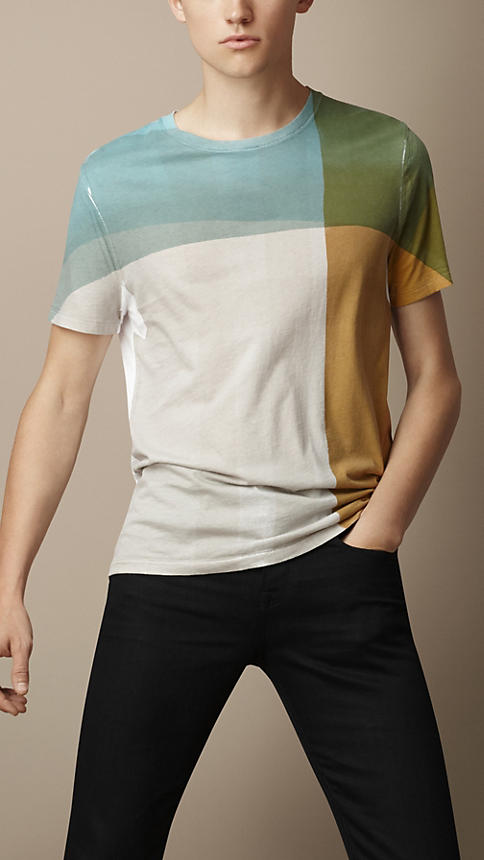 Burberry Abstract Check Graphic T-Shirt