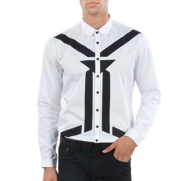 JPSH GPRYA BLACK AND WHITE SHIRT
