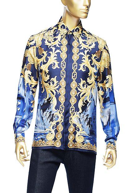 Versace Barocco Camouflage silk SHirt