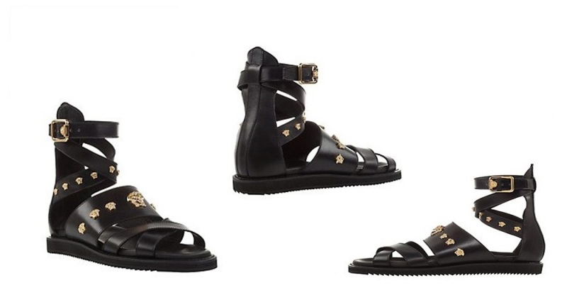 Versace Gladiator Leather Sandals