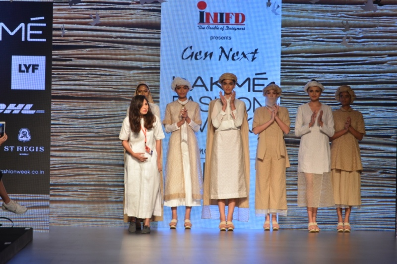 Gen-Next designer Aqdus Saleem takes a bow at her debut show at LFW SR 16